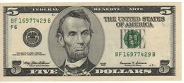 USA   $ 5    Dated 1999    Letter F6    P510   UNC - National Currency