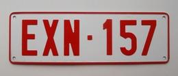 Plaque D'immatriculation - Belgique - - Plaques D'immatriculation