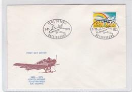 AIR TRAFFIC FLYGTRAFIKEN 1923-973. FDC. HELSINSKI 1973. FINLAND- BLEUP - Finland