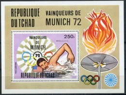 Chad, 1972, Olympic Summer Games Munich, Swimming, MNH, Michel Block 57A - Chad (1960-...)