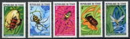 Chad, 1972, Insects, Spiders, Beetles, Animals, MNH, Michel 510-514 - Chad (1960-...)