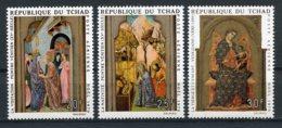 Chad, 1970, Christmas, Paintings, MNH, Michel 338-340 - Chad (1960-...)