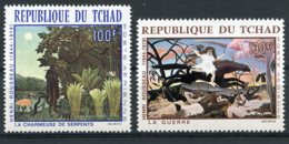 Chad, 1968, Rousseau Paintings, MNH, Michel 201-202 - Chad (1960-...)