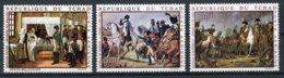 Chad, 1969, Napoleon, Paintings, MNH, Michel 275-277 - Tchad (1960-...)