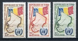 Chad, 1961, Admission To The United Nations, MNH, Michel 66-68 - Chad (1960-...)