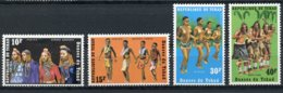 Chad, 1971, Indigenous Dance, Tribal Dance, MNH, Michel 431-434 - Ciad (1960-...)