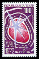 Chad, 1972, World Heart Month, WHO, United Nations, MNH, Michel 509 - Chad (1960-...)