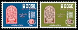 Ceylon, Sri Lanka, 1963, Freedom From Hunger, FAO, United Nations, MNH, Michel 320-321 - Sri Lanka (Ceylan) (1948-...)