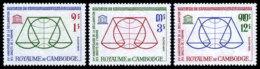 Cambodia, 1963, Human Rights Declaration, United Nations, MNH, Michel 160-162 - Cambodia