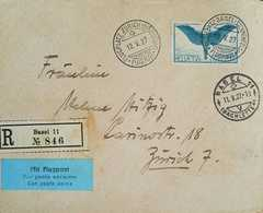 L) 1927 SWITZERLAND, 65C, BLUE, ICARUS, WITH AIRPOST, AIRMAIL, XF - Switzerland