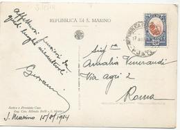 W181 Repubblica Di San Marino - Panorama - 20 Centesimi / Viaggiata 1934 - Saint-Marin