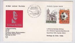 LUFTHANSA FIRST FLIGHT LH 502 DC 10 FRANKFURT~DAKAR~RIO~SAO PAULO~BUENOS AIRES~SANTIAGO 1978, BRASIL- BLEUP - Airmail