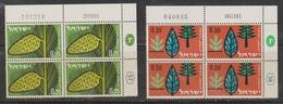 ISRAEL Scott # 212-3 MNH Plate Blocks - Afforestation Program - Israel