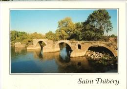 34 - SAINT THIBÉRY - VESTIGES DU PONT ROMAIN SUR L'HÉRAULT - Frankreich