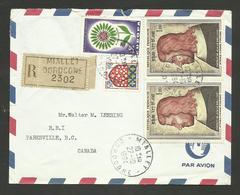 Paire Jean Le Bon - Europa - Blason / MIALLET - DORDOGNE 27.10.1964 / Lettre Avion >>> CANADA - France