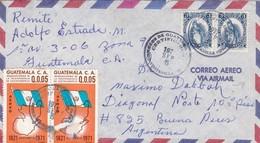 AIRMAIL CIRCULEE GUATEMALA TO ARGENTINA OBLITERE 1972 STAMP A PAIR.- BLEUP - Guatemala