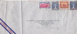 AIRMAIL CIRCULEE GUATEMALA TO USA OBLITERE 1941 BANDELETA PARLANTE, MIXED STAMPS.- BLEUP - Guatemala