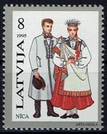 Lettland Letland Latvija 1995 - Trachten - MiNr 407** - Kostüme