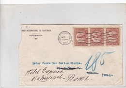 BANCO INTERNACIONA DE GUATEMALA CIRCULEE TO ROME OBLITERE 1927, BLOCK STAMP , AUTRES MARQUES.- BLEUP - Guatemala