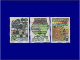 SENEGAL  Yvert:524/6, Hunderwasser. (Michel 705/7)      - Qualité: XX . Cote: 30 - Sénégal (1887-1944)