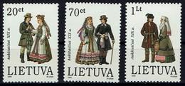 Litauen Lietuva 1995 - Trachten - MiNr 581-583** - Kostüme