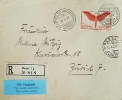 L) 1927 SWITZERLAND, ICARUS, ORANGE, 75C, HELVETIA, AIRMAIL, XF - Switzerland