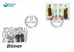 Färöer Foroyar Faroe Islands 1989 - Volkstrachten - MiNr 182-183 MK - Kostüme