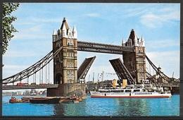 Great Britain, London, Tower Bridge, Unused - River Thames