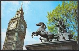 England, London, Big Ben And Badicea Statue, Unused - Houses Of Parliament