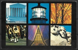 Tauk Tours Advertising Card, Unused, Six US Scenes - Advertising