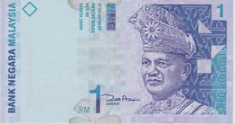 Banknote Malaysia 1 Ringgit - Holographic - Tuanku Abdul Rahman - Mount Kinabalu, Mount Mulu - Wau Bulan Kite - Maleisië