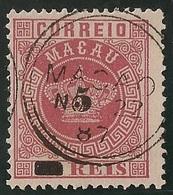 Macau Portugal China Chine 1885 - Tipo Coroa. Com Sobretaxa 5 Reis Sobre 20 Reis  - Crown - No 4 & 6 Surcharged - Used - Macau