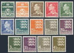 Denmark 437-444D,MNH.Mi 456/513. Numeral,King Frederik IX,State Seal,1967-1971. - Denmark