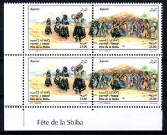 ALGERIA 2018 4v MNH - Diptyque Tuareg Danse SBIBA Algerian Sahara Dance Dancer Tanz Danza Dancers Dances - Danse
