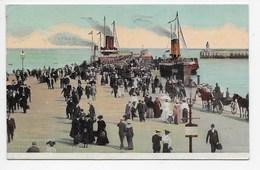Arrival Of Steamer. Victoria Pier, Douglas I.O.M.. - Manx Camera Series - Isle Of Man