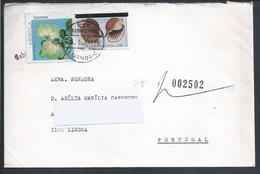 Registered Letter From Luanda, Angola With Stamp With Overload.Conch.Tona Galea Linné. Búzio. 2 Scn. Rare. - Angola