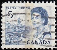 CANADA - Scott #458p Queen Elizabeth II 'Tagged' / Used Stamp - 1952-.... Reign Of Elizabeth II