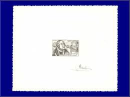 TUNISIE Epreuves D'Artiste Yvert:419, épreuve D'artiste En Noir, Signée: 12+3 Journée Du Timbre 1956, F. Tassis, Durer   - Tunisia (1888-1955)
