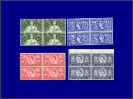 GB - GRANDE BRETAGNE  Yvert:279/82, 4 Blocs De 4: Couronnement      - Qualité: XX . Cote: 96 - Unclassified