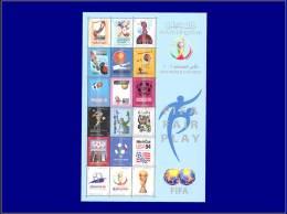 QATAR  Yvert:Michel 1193/1210, Feuillet Illustré: Football Et Jeux Olympiques      - Qualité: XX . Cote: 32 - Qatar