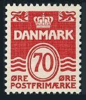 Denmark  497, MNH. Michel 525. Definitive 1972: Wavy Lines, Numeral Value. - Denmark
