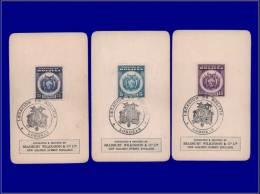 "BOLIVIE  Yvert:185 + 187/8, 3 Non Dentelés Sur Carton Officiel """"Bradbury"""" + Cachet """"Legation Bolivia Londres""""      - - Bolivia"