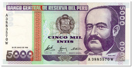 PERU,5000 INTIS, 28.6.1988,P.137,UNC - Peru