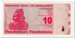 ZIMBABWE,10 DOLLARS,2009,P.94,AU-UNC - Zimbabwe