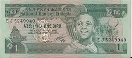 ETHIOPIA=1969   1  BIRR     P-41     UNC - Ethiopie
