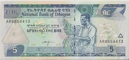 ETHIOPIA=1998   5  BIRR     P-47     UNC - Ethiopia