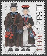 Estonia 2013 National Costumes €1 Good/fine Used [38/31499/ND] - Estonia