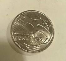 LSJP BRAZIL COIN 25 CENTS 2018 DEODORO DA FONSECA UNC - Brazil