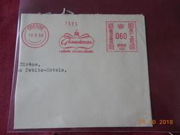 EMA Sur Grand Fragment De Lettre De 1956 - Marcofilie - EMA (Printer)