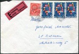 Switzerland 1966 ZERMATT Pictorial Pmk Express Cover Franked Europa-CEPT + CERN Nuclear Energy Schweiz Suisse > Germany - Ideas Europeas